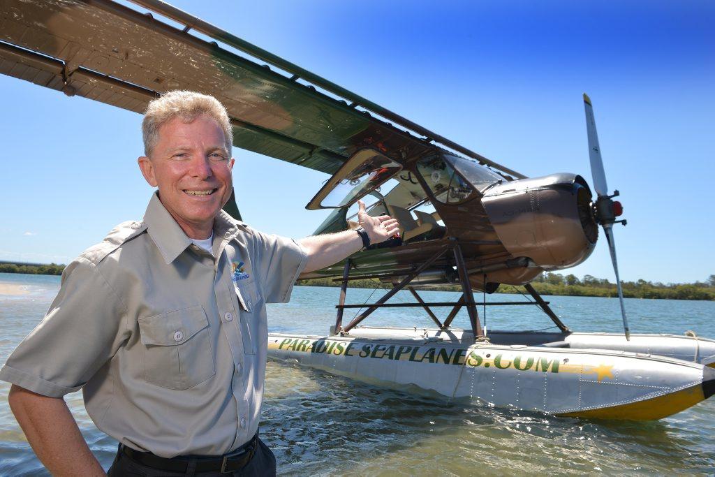 Tourism venture Paradise Seaplane wants to start joy flights from the Maroochy River. Pilot Shawn Kelly Photo: Warren Lynam / Sunshine Coast Daily