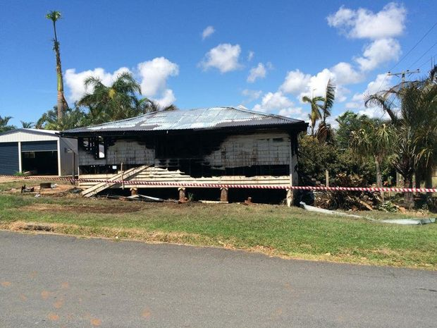 House destroyed in a fire in Yeppoon. Photo: Mel Plane