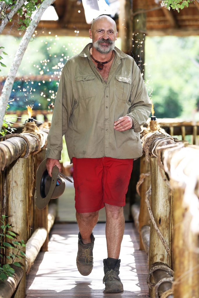 Merv Hughes pictured after his elimination from I'm A Celebrity... Get Me Out of Here!