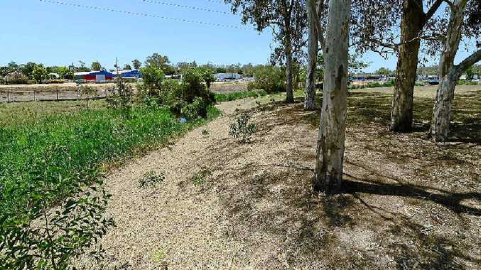 BIG PLANS: A cross-section of Bundamba Creek at the Bunnings site shows a deeper creek bed replacing the existing creek flow.