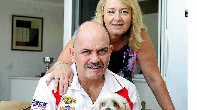 GRATEFUL FAMILY: Anita Espley is happy to have husband Neil home after he spent 157 days in hospital with a brain injury.