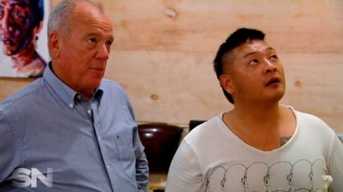 Sunday Night journalist Mike Willesee with Bali Nine inmate Andrew Chan