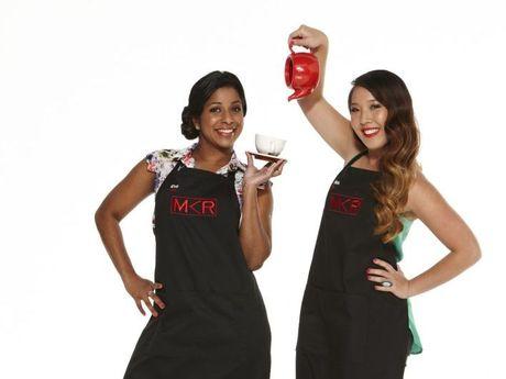 My Kitchen Rules contestants Eva and Debra.