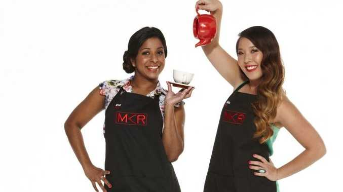 My Kitchen Rules contestants Eva and Debra.