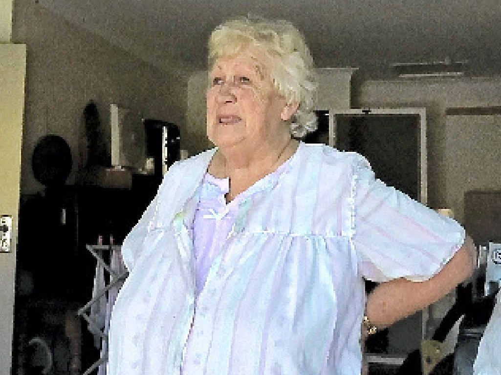 PENSIONER'S PAIN: Terri Simpson tells how an intruder burgled her home while she slept.