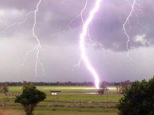 VIDEO: Lightning strike near home caught on camera