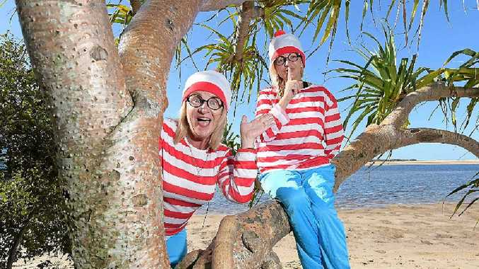 WHERE'S WALLY: Selina Tomasich (right) and Di Ross, will be part of a Where's Wally event on March 14 at the Kawana Waters Hotel which will raise money for Hair Aid.