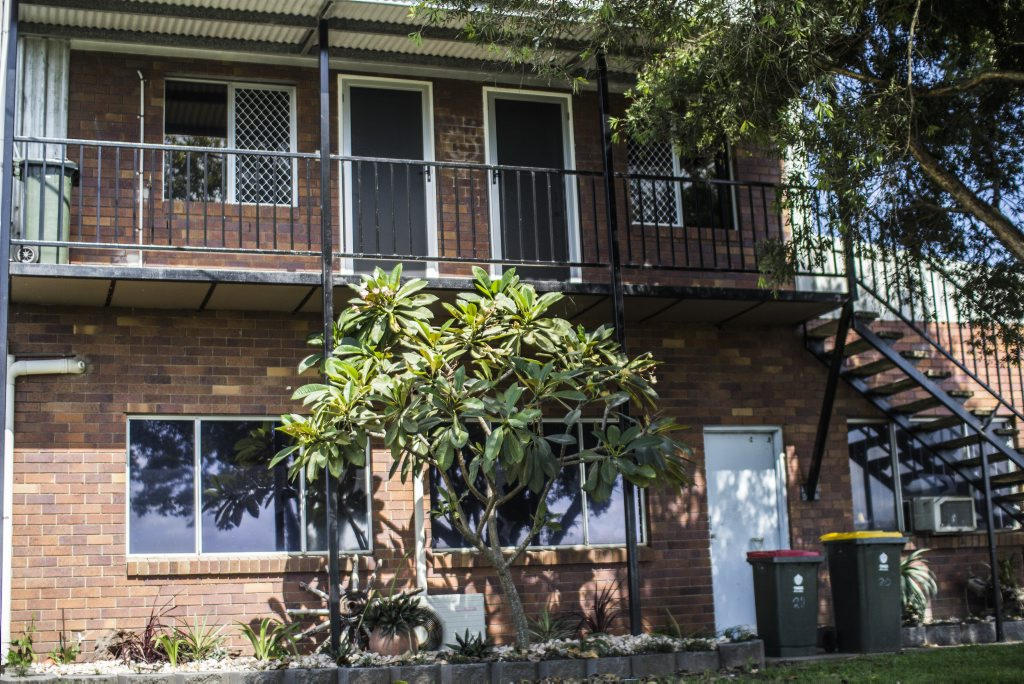 On Sunday, police returned to the South Murwillumbah apartment where Michael Martin was brutally murdered on June 13, 2014. Liana Turner / Tweed Daily News