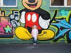 Louise 'Russell' Lehmann: Lily checking out all the art in the CBD - our fave thing to do on a weekend.