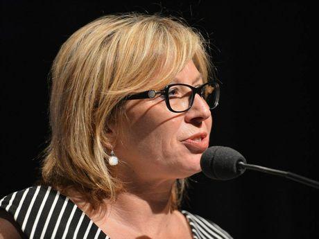 Rosie Batty speaks about domestic violence for International Women's Day. Photo: Warren Lynam / Sunshine Coast Daily