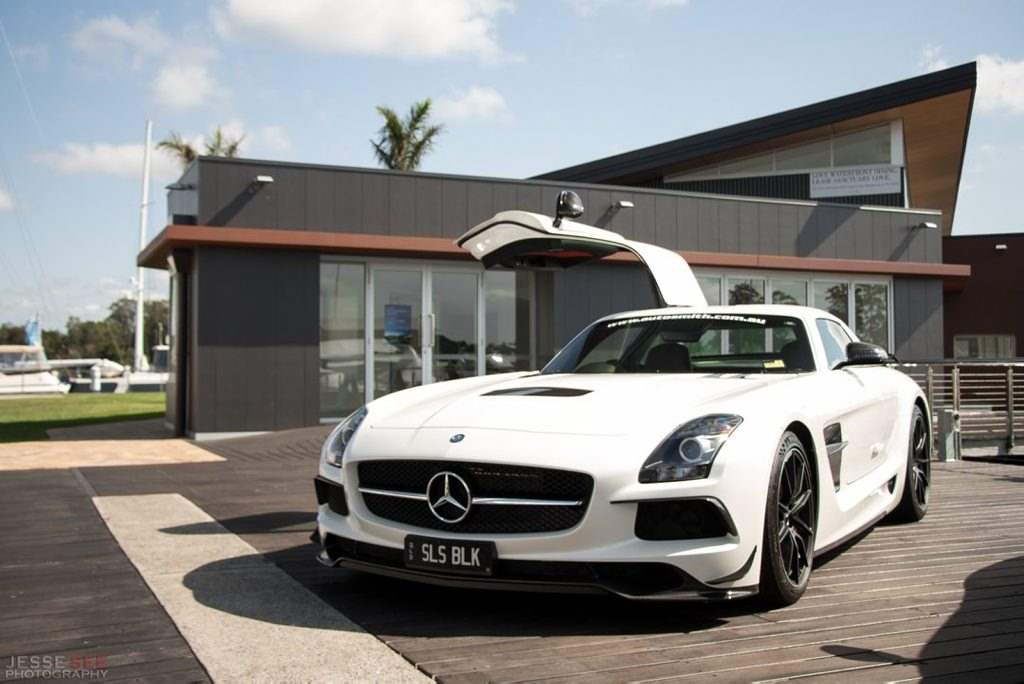 The 2013 model Mercedes-Benz SLS Black Series.