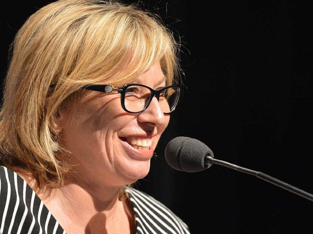 FROM THE HEART: Rosie Batty speaks about domestic violence for International Women's Day at Caloundra Events Centre.