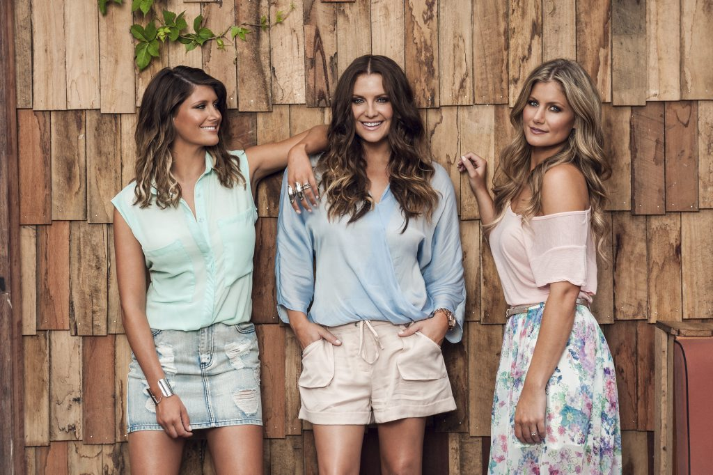 Country music trio The McClymonts, from left, Mollie, Brooke and Sam McClymont.