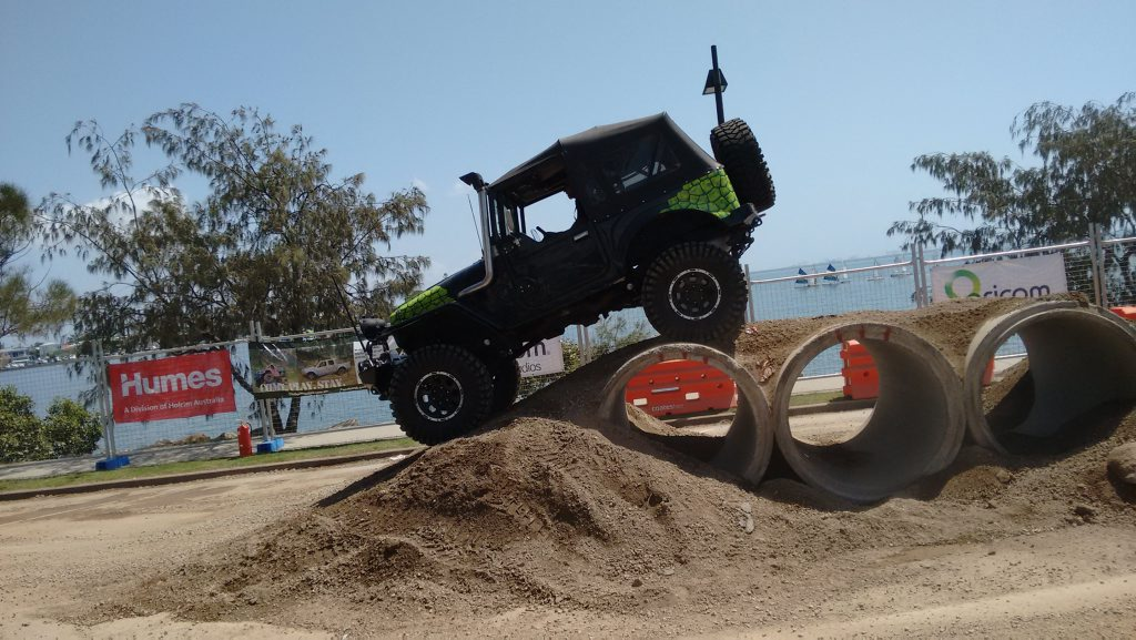 Simon Christie from 4WD TV at the Australian 4x4 and Marine Expo held at the Manly Boat Harbour. Photo: contributed