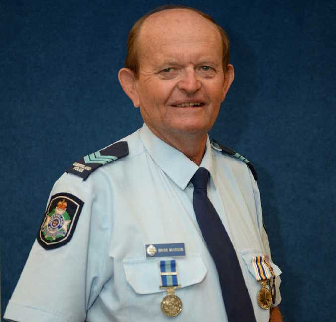 RESPECTED: Sergeant Brian Muirson is recognised for 40 years service.