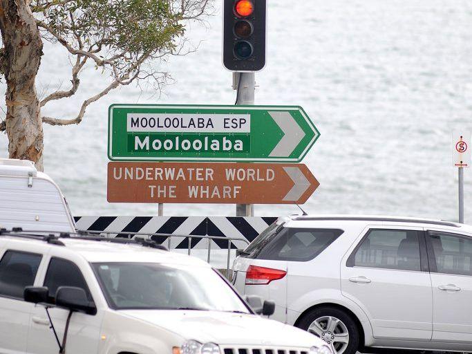 Traffic lights at Mooloolaba. Photo: Warren Lynam / Sunshine Coast Daily