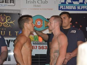Fight night weigh-in