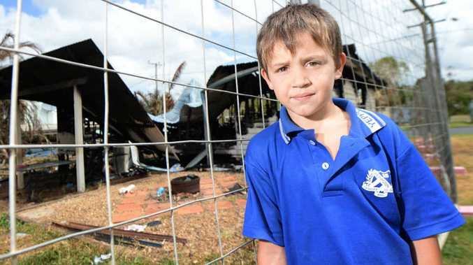 FAMILY HERO: Nine-year-old Charlie Millar saved his family by raising the alarm when their house caught fire earlier this week.