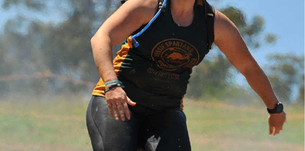 MOTIVATED AGAIN: Kat Down competes in last year's Spartan Race in Sydney.
