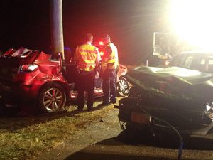 Driver critically injured after two-car smash