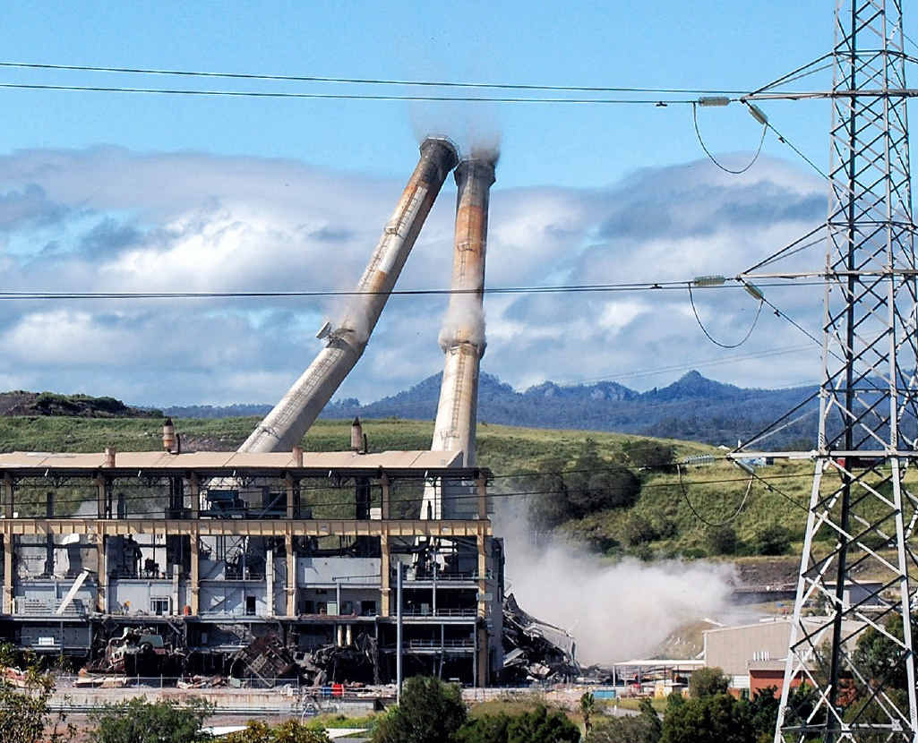 TARGET: Swanbank B power station has been targeted by thieves since it was demolished in February.