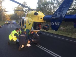 Hervey Bay man injured in motorbike crash near Childers