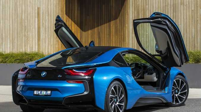 HYBRID SUPERCAR: The new hybrids will join the likes of the i3 and i8 (pictured) in BMW's hybrids featuring electric motors.