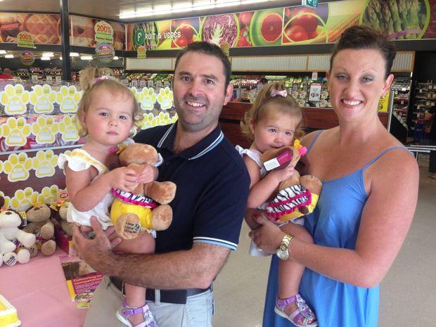 The Vanstone family at Bundaberg North Supa IGA.