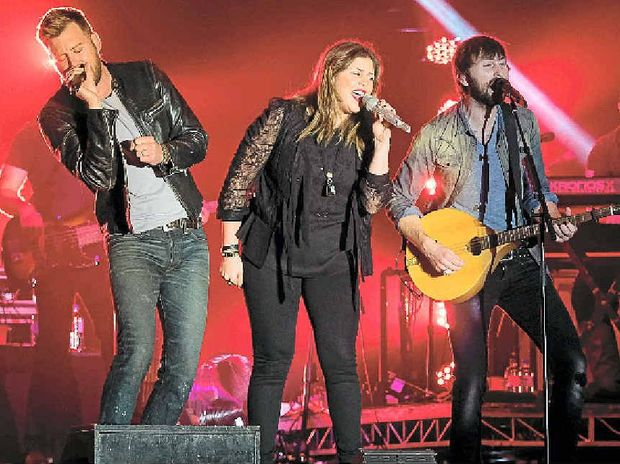 WHOLE LOTTA COUNTRY: Lady Antebellum played to an enthusiastic crowd at CMC Rocks.