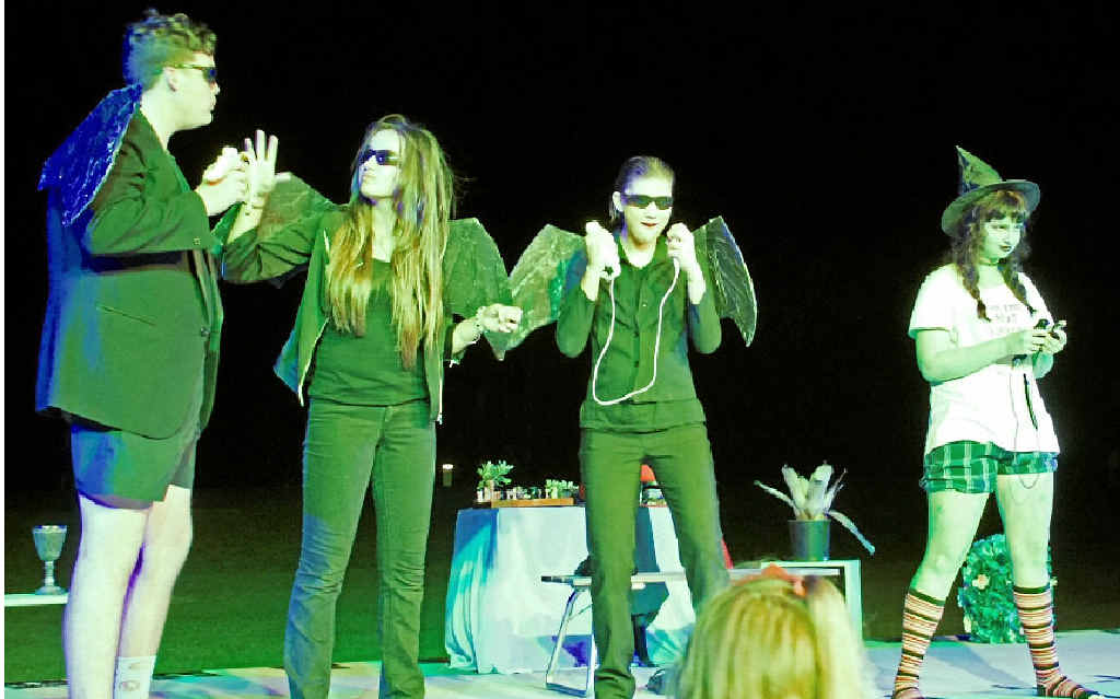 PAST CAST: Several of the Wizard of Oz cast; monkeys Zac Guinea, Issy Woo, Cat O'Rourke and the Wicked Witch Izzy Tait.