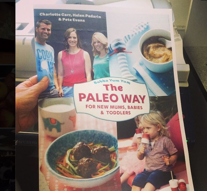 Bubba Yum Yum, The Paleo Way for New Mums, Babies and Toddlers was co-authored by celebrity chef Pete Evans, blogger Charlotte Carr and naturopath Helen Padarin.