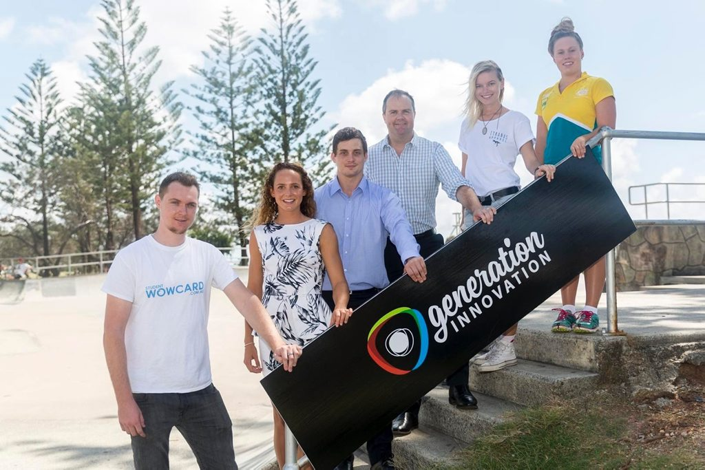 The team of Generation Innovation champions who will act as local ambassadors to promote the GI Challenge, including founder of Tyranus Apparel, Charlie Mackay, second from the right. Photo Contributed