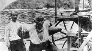 Turkish gunner Corporal Seyit, who is famous for having carried three 275kg shells to an artillery gun during the Allied attempt to force the Dardanelles on March 18, 1915.