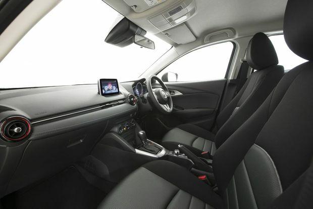 Inside the Mazda CX-3 Maxx.