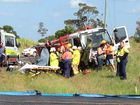 VIDEO: Emergency services cut driver out of crashed truck