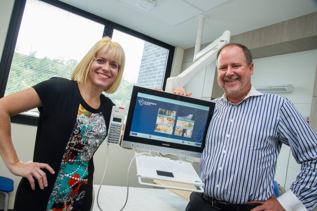 Dr Louise Schaper and Richard Royle at St Stephen's Hospital in Hervey Bay.