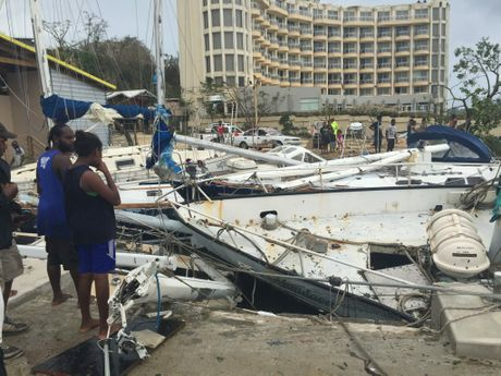 The aftermath of Cyclone Pam.