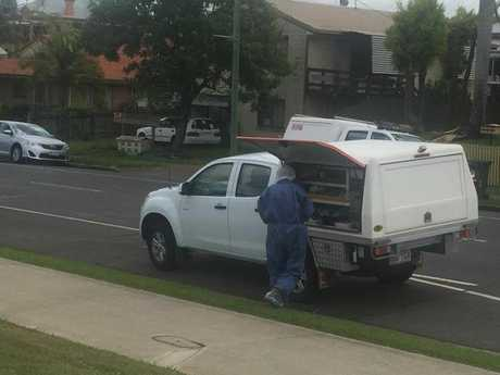 Police are at the scene of a possible suspicious death inside a block of units in Maryborough's Lennox St.
