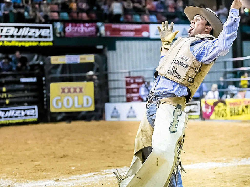 YEE-HAA: Fraser Babbington will be hoping to celebrate another victory at Grafton on March 28.