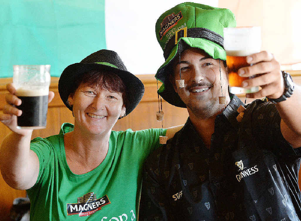 Kate O'Reilly's manager Janelle Nicol and Liam Hargreaves look forward to celebrating St Patrick's Day today.