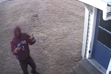 Burglar captured on video after targeting the same place for the fifth time