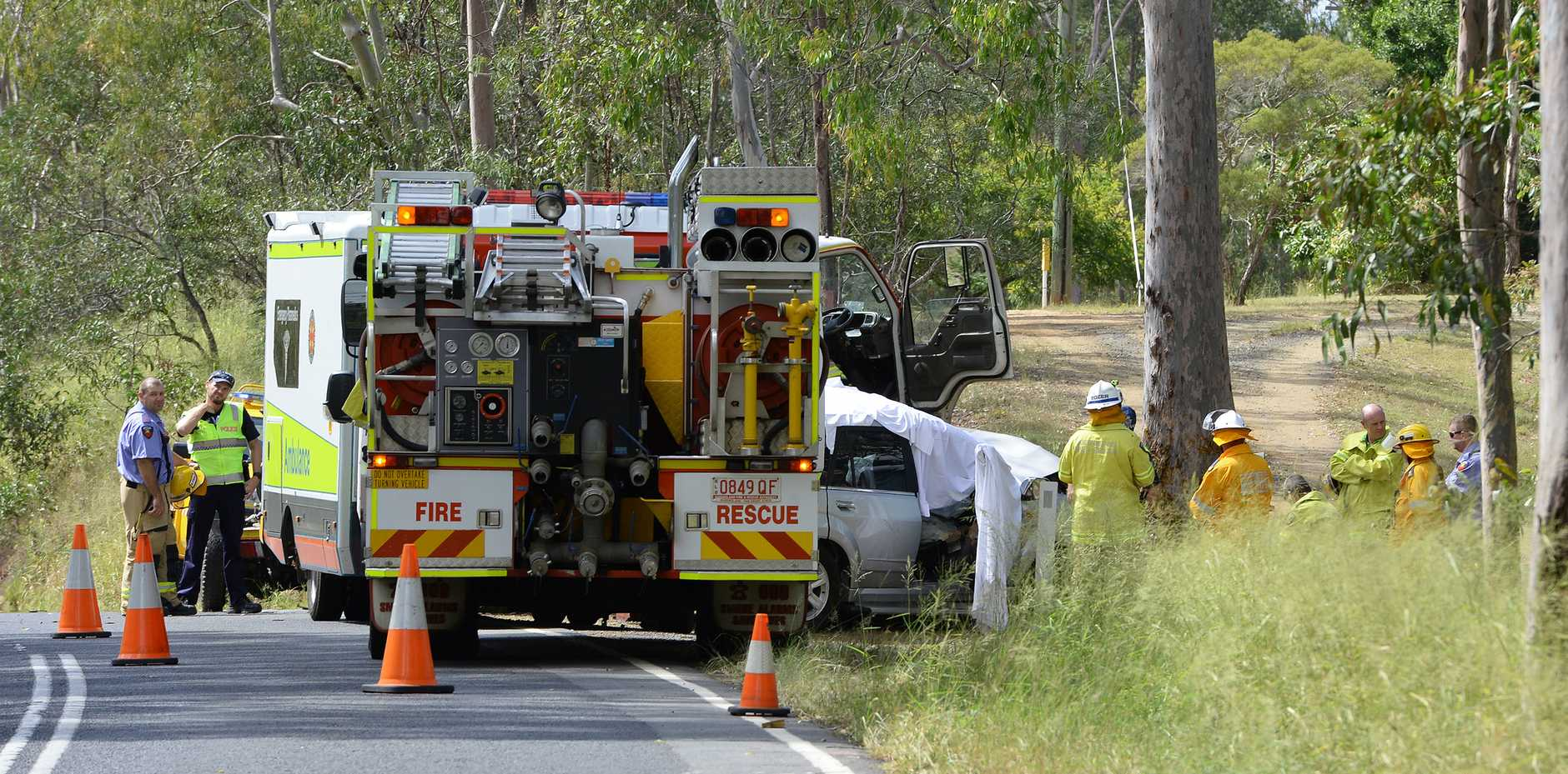 A man has lost his life after losing control of his vehicle on Rosewood - Laidley Road near Grandchester on Tuesday morning.