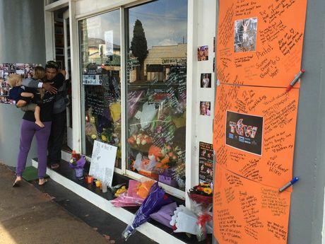 Tributes left outside Smithy's Gym for boxer Braydon Smith.