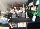 School House Espresso owners Steph and Dan Mulheron and Tim and Katie Adams.