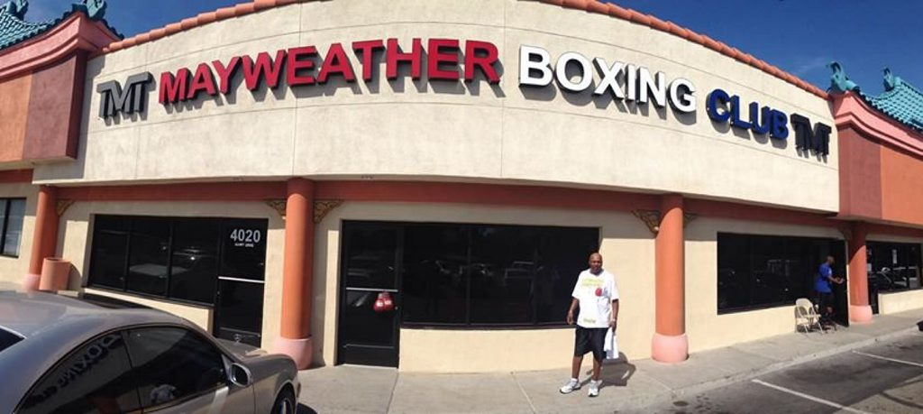 The Mayweather Boxing Club in Las Vegas.