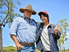 WAGYU GOOD TIME: Sota Sato enjoyed his stay with grazier Leo Neill-Ballantine, which included a few jokes along the way.