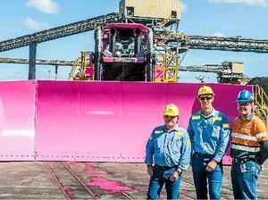 Ports corporation's pink dozer an eye catcher