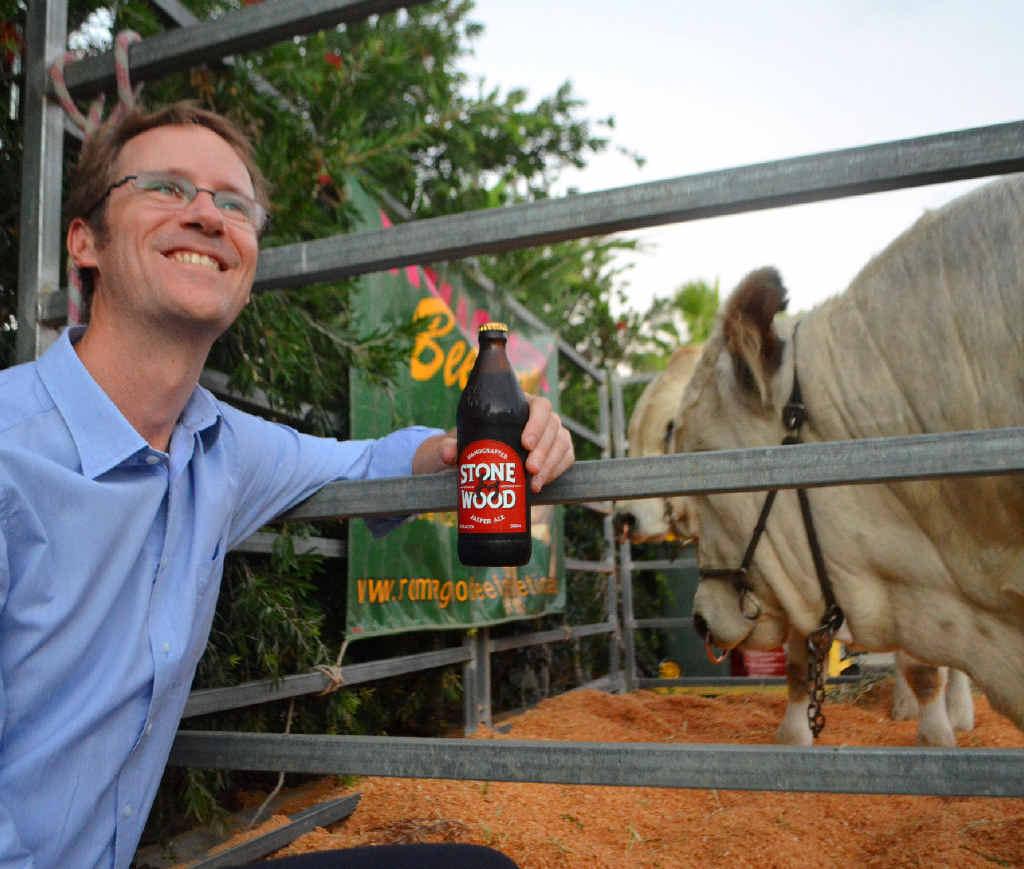 GURU: Beer expert Matt Kirkegaard was in Roma last week to provide his tips on beers to go with beef.