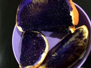 Mum shocked after orange mysteriously turns purple