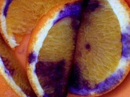The orange starting to change colour.